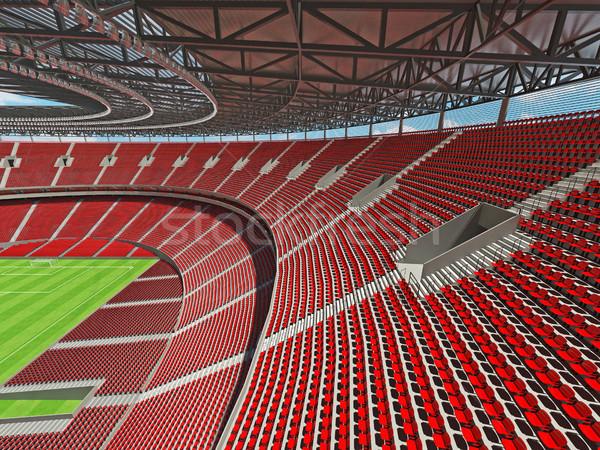 3dのレンダリング サッカー サッカー スタジアム 赤 vip ストックフォト © danilo_vuletic
