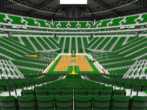 красивой современных спорт арена баскетбол зеленый Сток-фото © danilo_vuletic