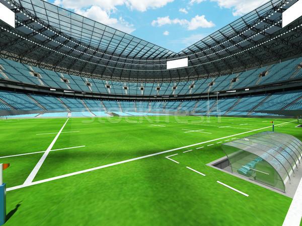 3d render rugby stadion hemel Blauw vip Stockfoto © danilo_vuletic