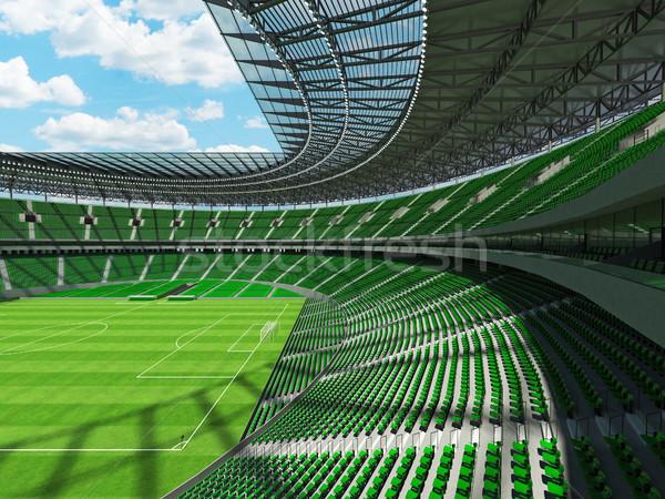 3dのレンダリング サッカー サッカー スタジアム 緑 vip ストックフォト © danilo_vuletic