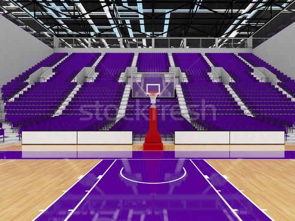 спортивных арена баскетбол Purple vip красивой Сток-фото © danilo_vuletic