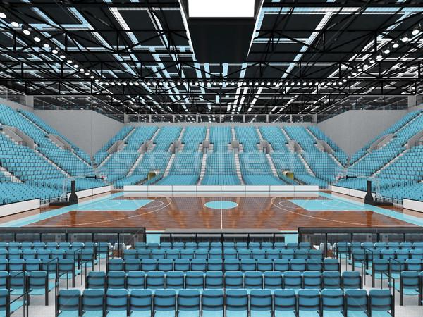 Sportok aréna kosárlabda égbolt kék gyönyörű Stock fotó © danilo_vuletic