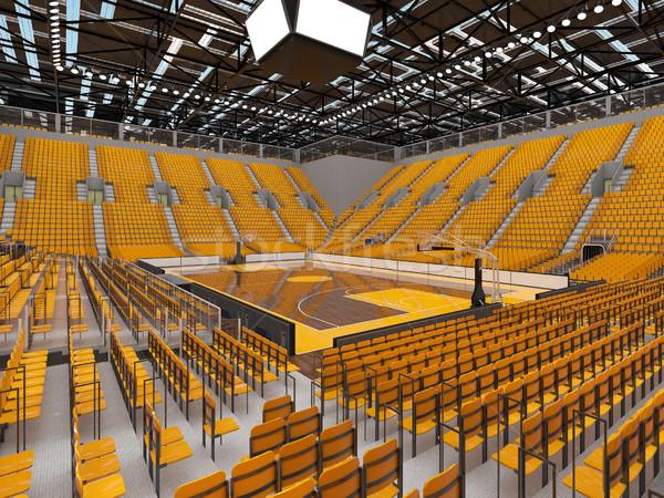Gyönyörű sportok aréna kosárlabda citromsárga vip Stock fotó © danilo_vuletic