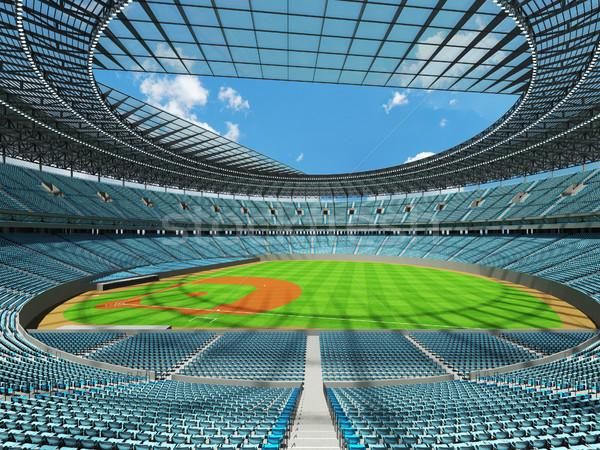 3d визуализации бейсбольной стадион небе синий vip Сток-фото © danilo_vuletic