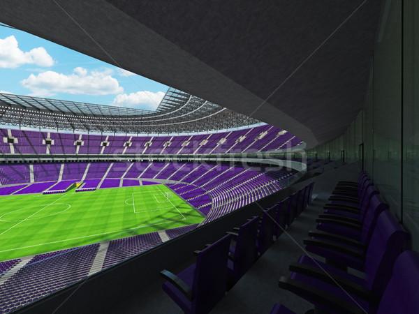 3d render voetbal voetbal stadion paars vip Stockfoto © danilo_vuletic
