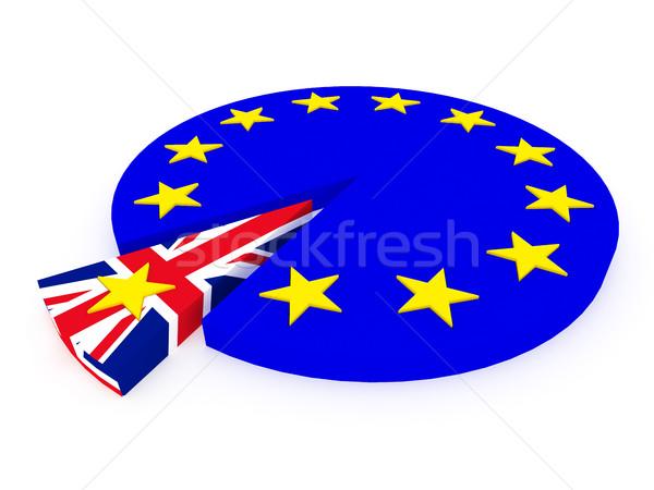 Foto stock: Reino · europeu · união · 3d · render · metáfora · fundo