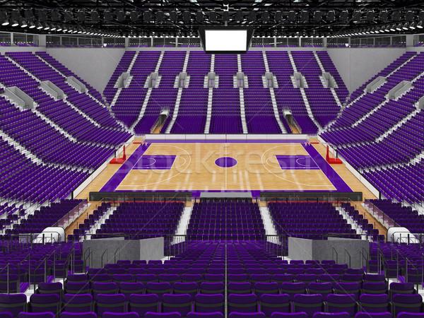 スポーツ アリーナ バスケットボール 紫色 vip 美しい ストックフォト © danilo_vuletic