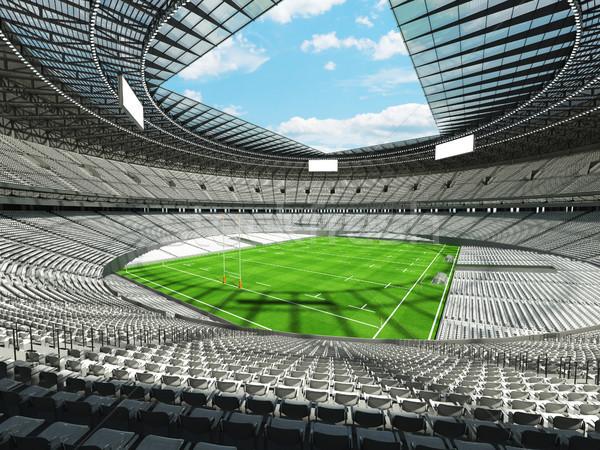 3d render rögbi stadion fehér vip doboz Stock fotó © danilo_vuletic