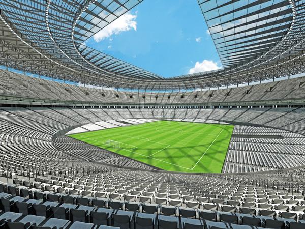 3d визуализации футбола Футбол стадион белый сто Сток-фото © danilo_vuletic