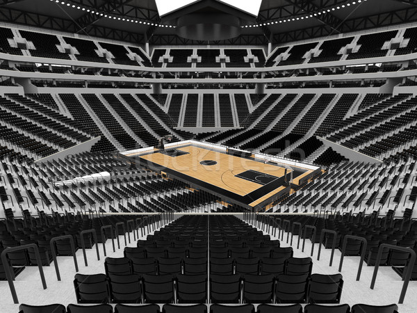 Mooie sport arena basketbal zwarte vip Stockfoto © danilo_vuletic