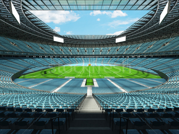 3d render rögbi stadion égbolt kék vip Stock fotó © danilo_vuletic
