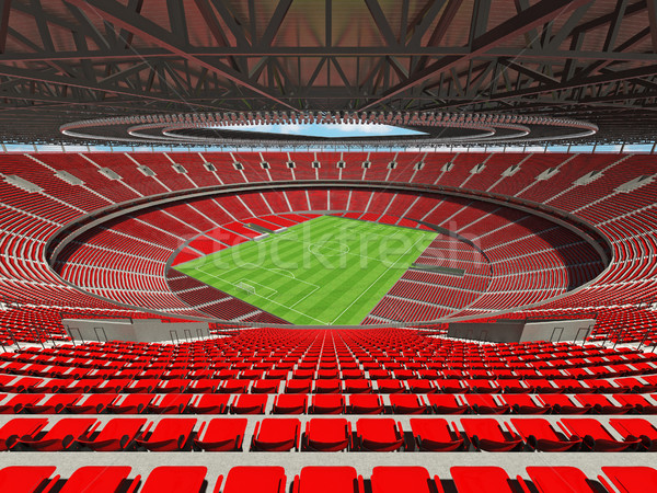 3d render futball futball stadion piros vip Stock fotó © danilo_vuletic