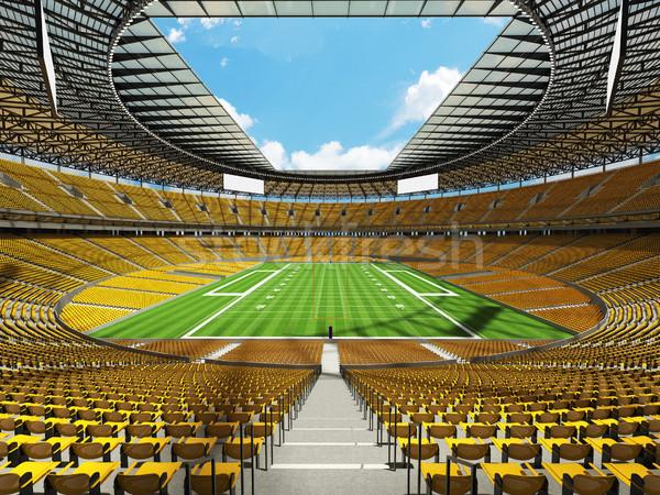 Amerikai futball stadion citromsárga vip dobozok Stock fotó © danilo_vuletic