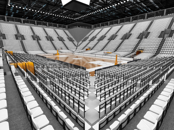 Beautiful modern sports arena for basketball with white seats Stock photo © danilo_vuletic
