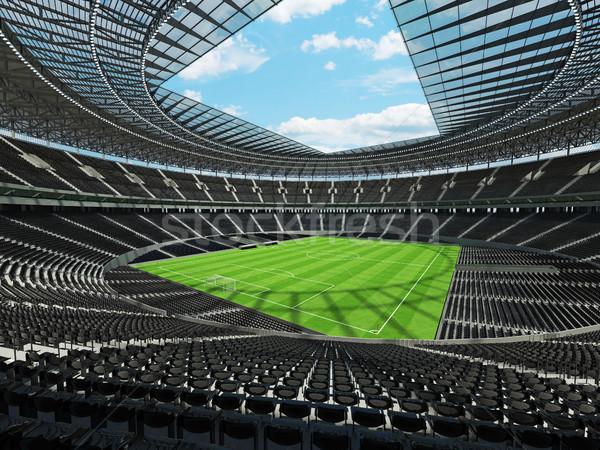 3d визуализации футбола Футбол стадион черный vip Сток-фото © danilo_vuletic