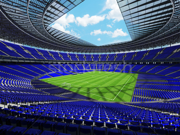 Futball futball stadion kék száz ezer Stock fotó © danilo_vuletic
