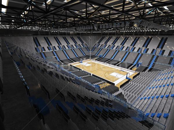 Belle sport arène basket gris chaises Photo stock © danilo_vuletic