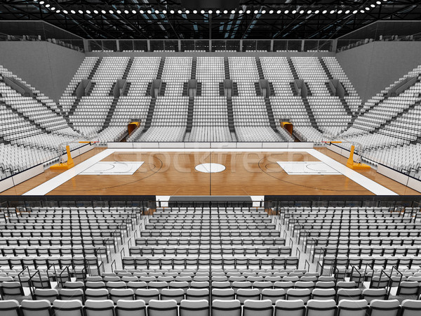 3d render belo esportes arena basquetebol branco Foto stock © danilo_vuletic