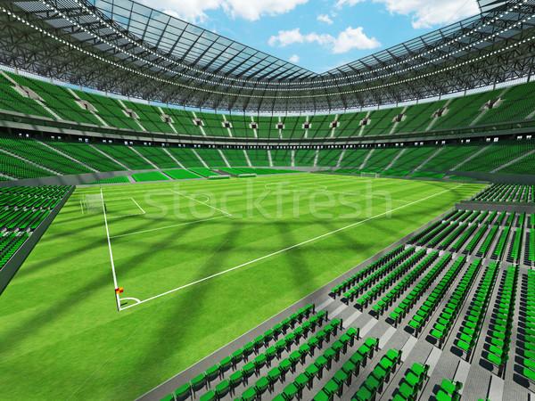 Stock fotó: 3d · render · futball · futball · stadion · zöld · vip