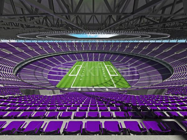 Stockfoto: Amerikaanse · voetbal · stadion · paars · honderd · duizend