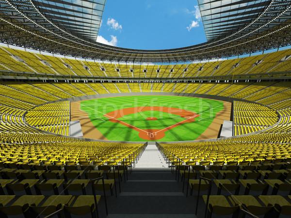 3d render baseball stadion citromsárga vip dobozok Stock fotó © danilo_vuletic