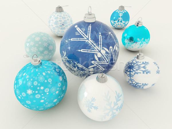 3d визуализации красивой синий белый праздник украшения Сток-фото © danilo_vuletic
