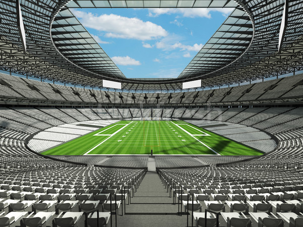 Round american football stadium with white seats for hundred thousand fans with VIP boxes Stock photo © danilo_vuletic