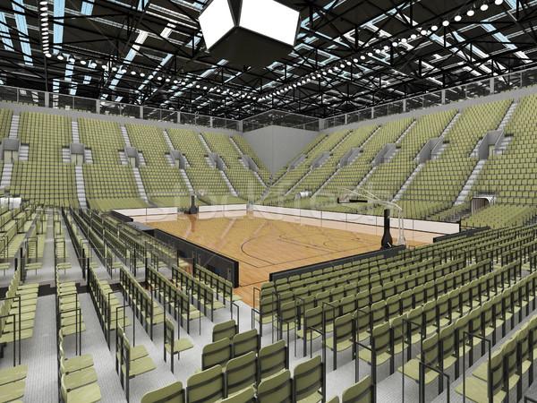 Sport basket grigio verde bella Foto d'archivio © danilo_vuletic