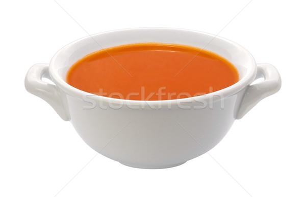Zupa pomidorowa puchar odizolowany żywności obiedzie Zdjęcia stock © danny_smythe