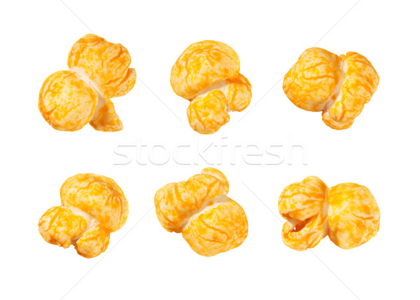 Cheese Flavored Popcorn isolated on white Stock photo © danny_smythe