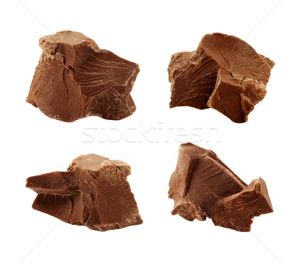 Chocolate Chunks isolated Stock photo © danny_smythe