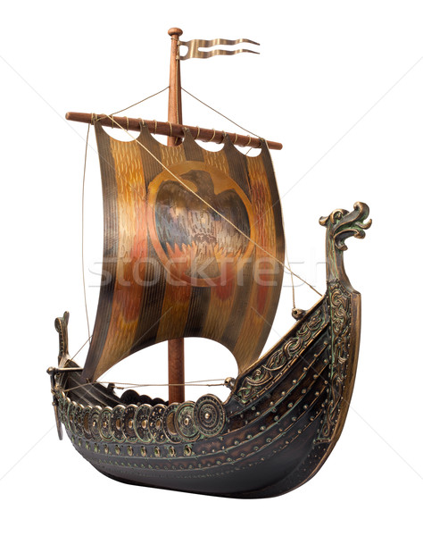 Viking Ship isolated  Stock photo © danny_smythe