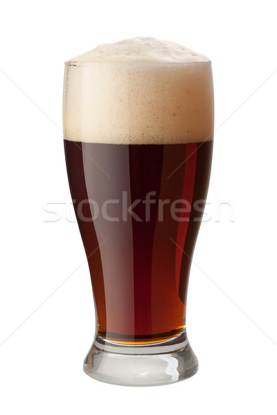 Dark Ale Isolated with clipping path Stock photo © danny_smythe