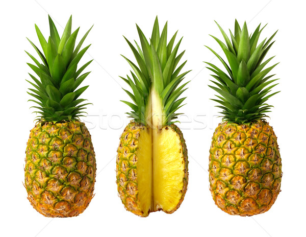 Yalıtılmış beyaz meyve ananas nesne makro Stok fotoğraf © danny_smythe