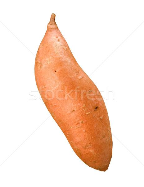 Zoete aardappel geïsoleerd witte voedsel diner plantaardige Stockfoto © danny_smythe