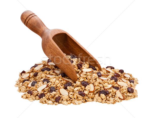 Granola, Almonds, and Raisins isolated Stock photo © danny_smythe