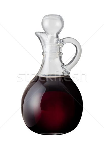Vinagre balsâmico isolado branco comida salada Foto stock © danny_smythe
