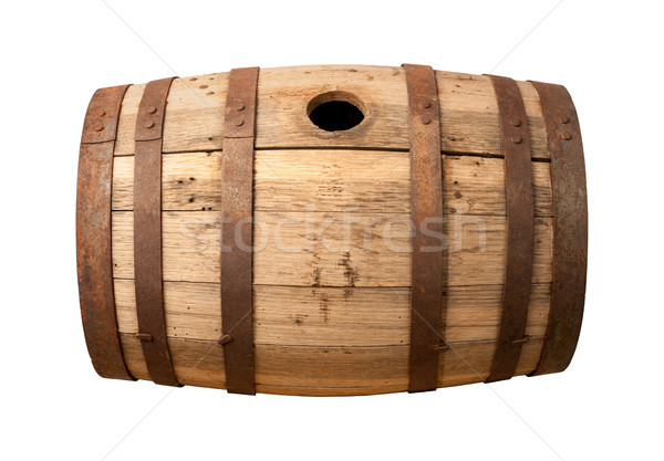 Old Wooden Barrel isolated Stock photo © danny_smythe