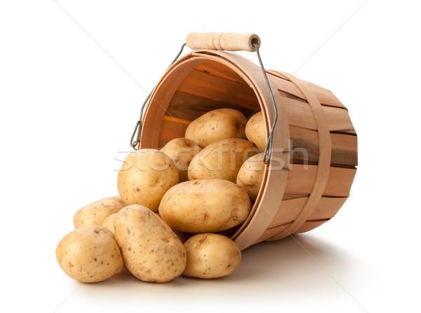Golden Potatoes in a Basket Stock photo © danny_smythe