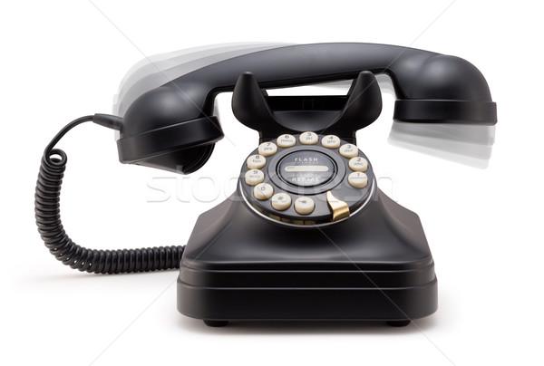 телефон крюк изолированный белый связи Сток-фото © danny_smythe