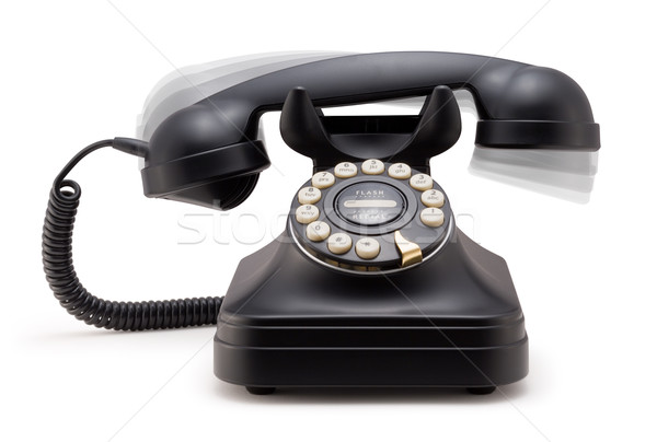 Phone Ringing off the Hook isolated Stock photo © danny_smythe