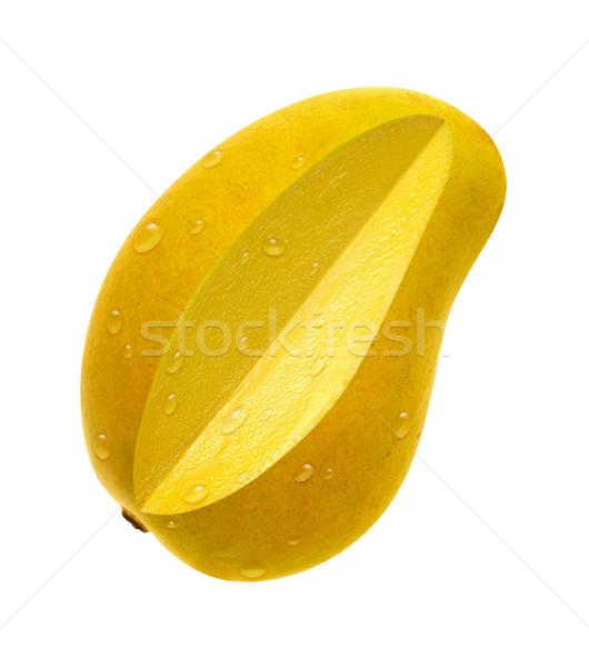 Mango dilim yalıtılmış beyaz Stok fotoğraf © danny_smythe