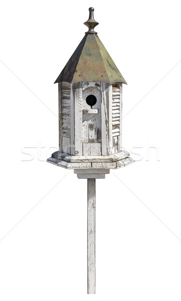 Old Birdhouse Isolated with clipping path Stock photo © danny_smythe