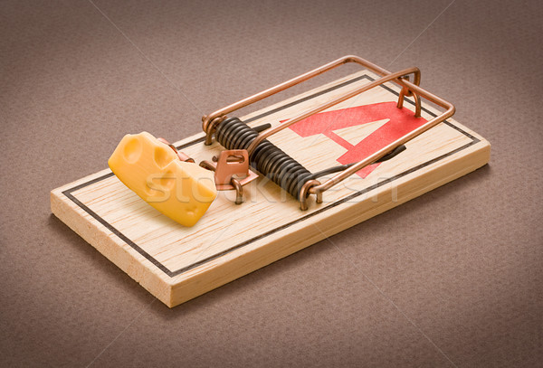 Mousetrap isolated Stock photo © danny_smythe