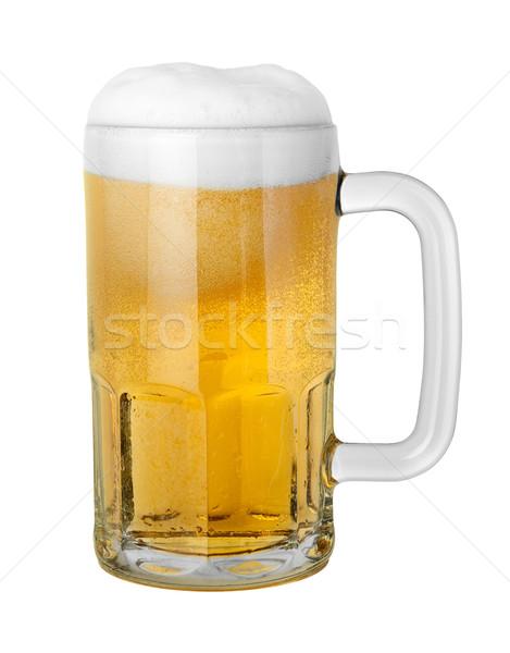 Cerveja caneca isolado branco Foto stock © danny_smythe