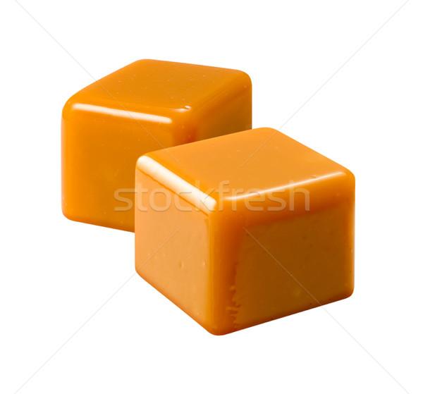 Caramelo aislado blanco dulces cubo Foto stock © danny_smythe