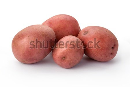 Red Potatoes isolated Stock photo © danny_smythe