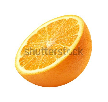Pomarańczowy plasterka odizolowany biały żywności pomarańczowy skóry Zdjęcia stock © danny_smythe