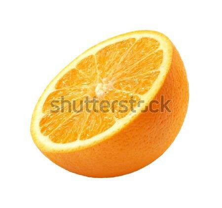 Rodaja de naranja aislado blanco alimentos naranja piel Foto stock © danny_smythe