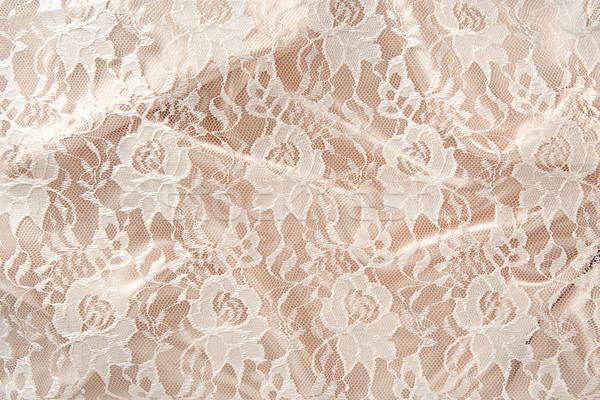 Csipke szatén háttér selyem luxus dekoráció Stock fotó © danny_smythe